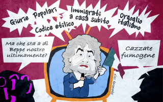 Satira: satira  grillo  sparatrap