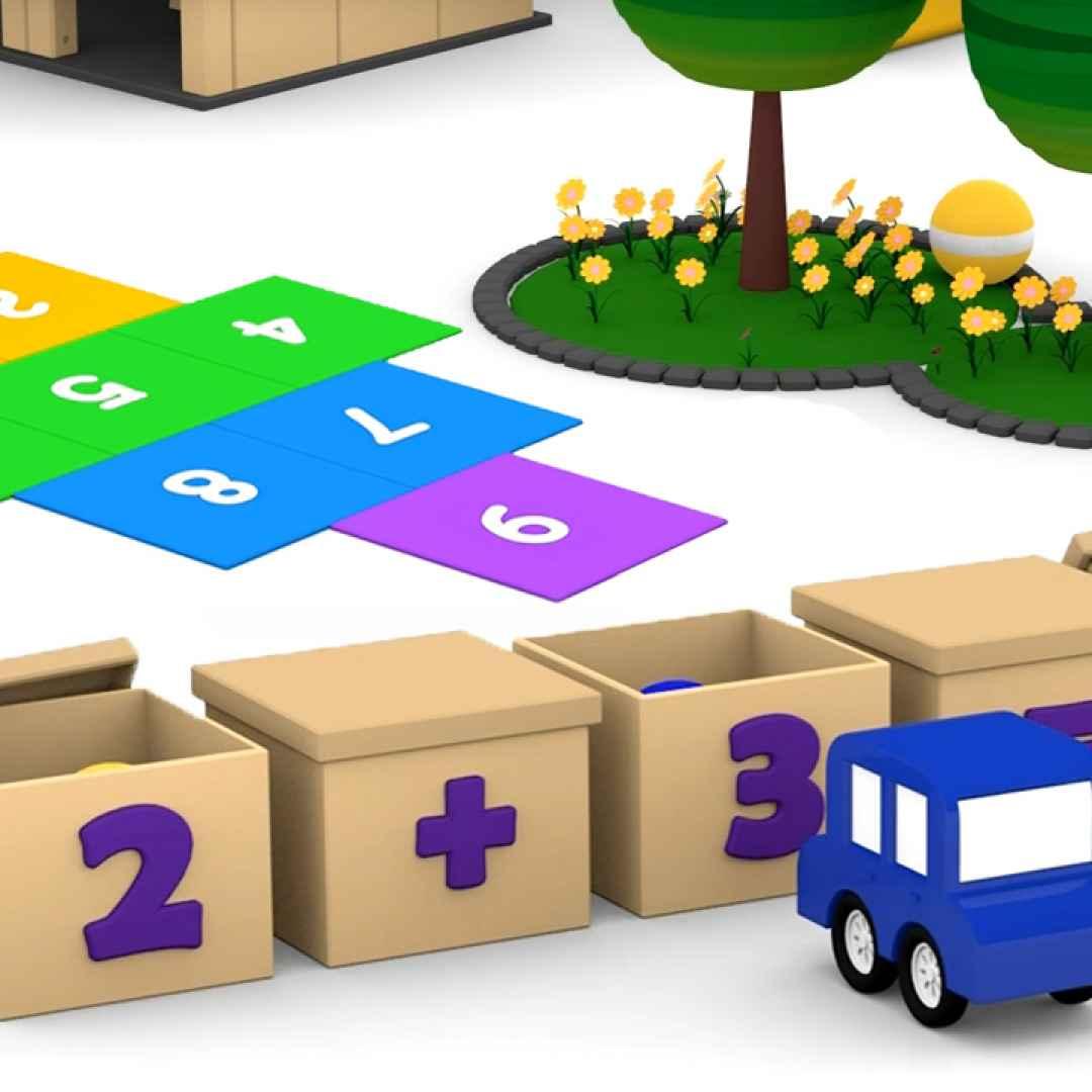 cartoni animati  bambini  matematica