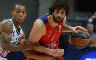 Basket: eurolega  cska  olimpia  sconfitta