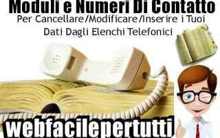 elenchi telefonici  moduli  contatti