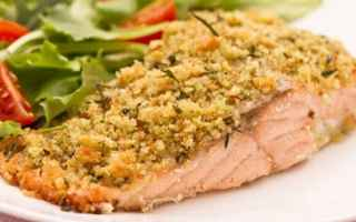 Ricette: salmone al forno  pistacchi  ricetta