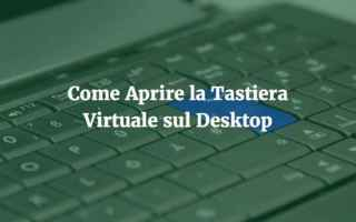 Microsoft: windows 10  tastiera  virtuale