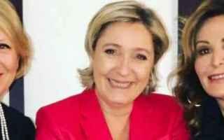 Politica: santanchè  le pen  salvini  berlusconi