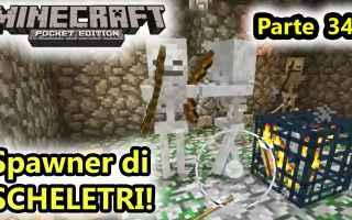 Mobile games: minecraft  minecraftpe  spawn scheletri