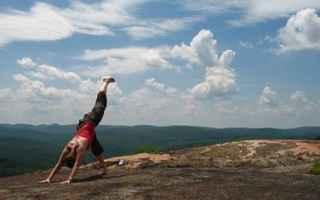 Fitness: trekking yoga  trekking  yoga  meditare