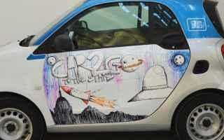 Arte: street art  car2go  carsharing