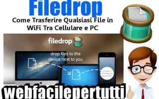 File Sharing: filedrop  wifi  pc