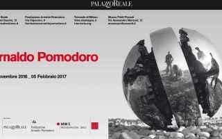 Milano: arnaldo pomodoro  mostra  milano  scultura