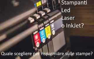Hardware: stampante  laser  inkjet  led  risparmio