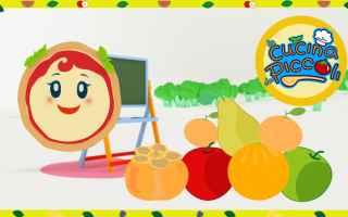 Video divertenti: cartoni animati  bambini  frutta
