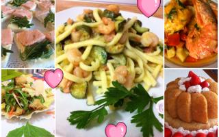 Ricette: cena  innamorati  ricette