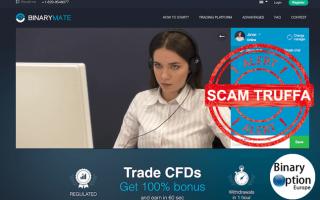Binarymate.com è un nuovo broker senza licenza e senza regolamentazione che ha iniziato la sua atti
