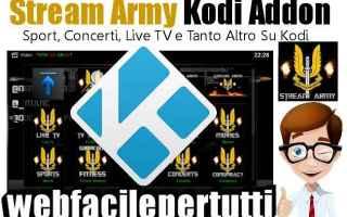 File Sharing: stream army  kodi  addon  streaming