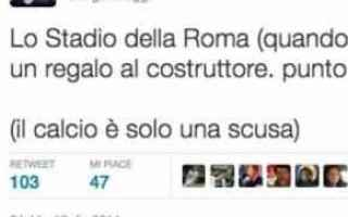 Roma: raggi  sindaca  roma  tweet  stadio  m5s