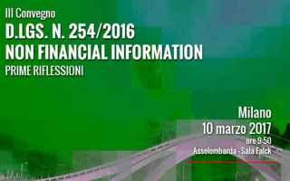 Economia: convegno  reporting  green