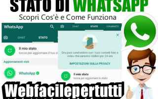 App: whatsapp stato funzione