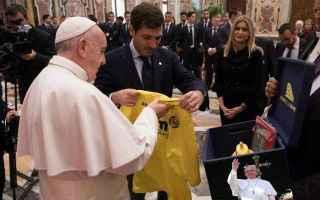Ricevimento in Vaticano per il Villareal, ieri, prima della gara valida per i 16esimi di Europa Leag