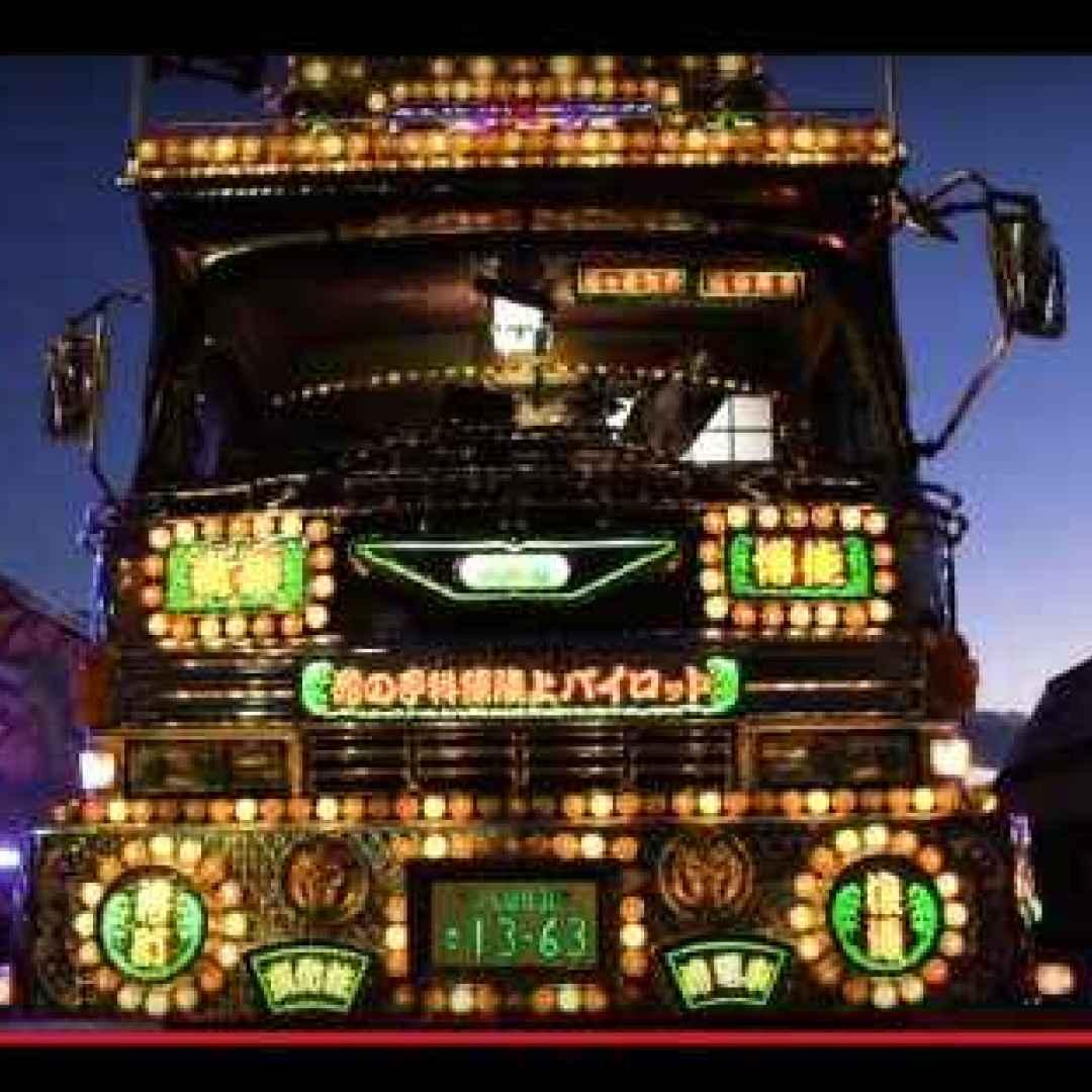 giappone  trasporti  camion  arte  luci