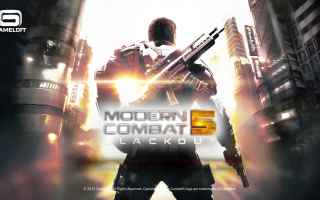 Mobile games: modern combat  fps  sparatutto  android