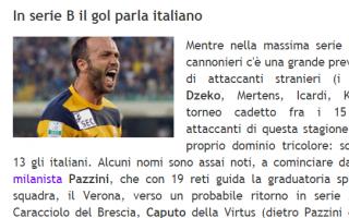 Serie B: pazzini  caputo  serie b  calcio  gol