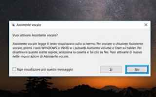 windows  assistente vocale