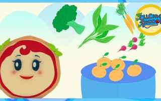 cartoni animati  bambini  cibo sano