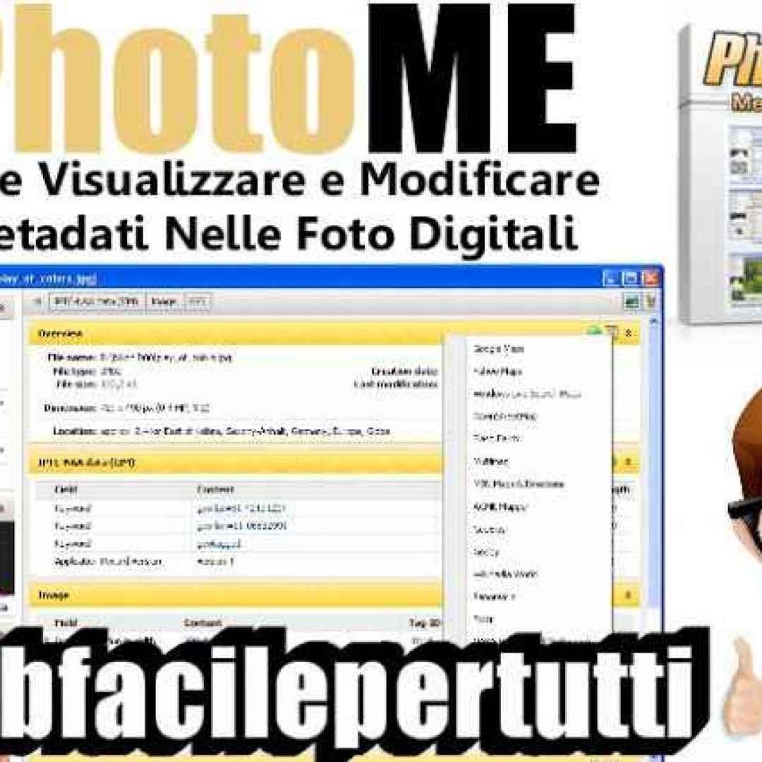 photome  programma  gratis  fotografia  metadati
