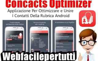 App: concacts optimizer app rubrica