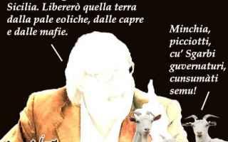 Satira: elezioni regionali siciliane  sgarbi