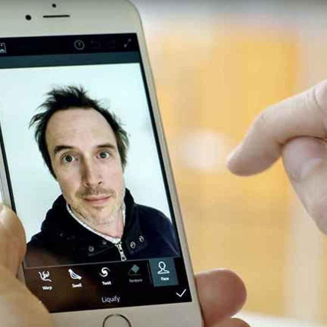 selfie  adobe app  smartphone