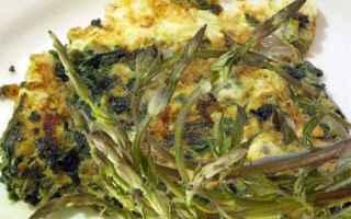 Ricette: gastronomia  ricette  asparagi  frittata