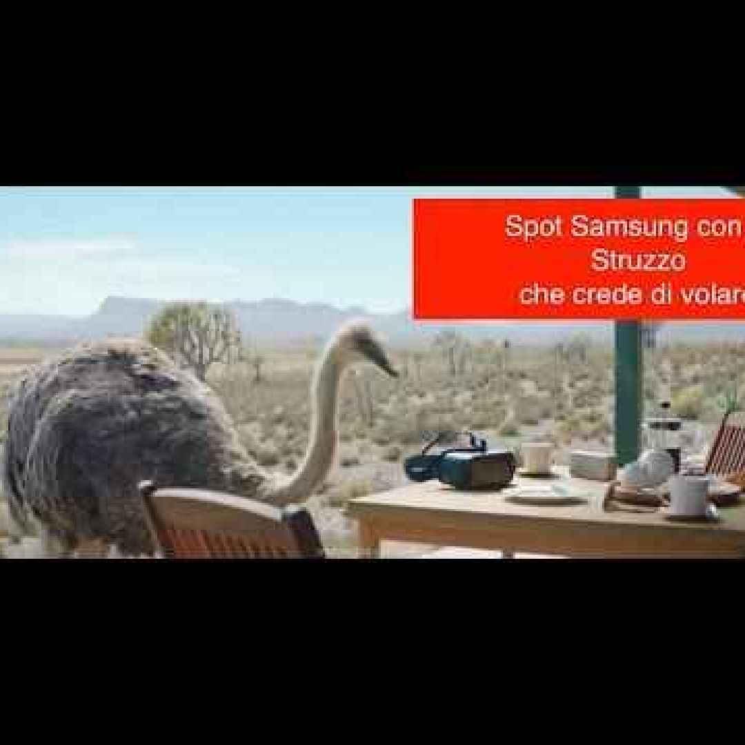 samsung pubblicità video struzzo