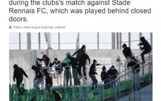 Calcio Estero: ligue 1  tafferugli