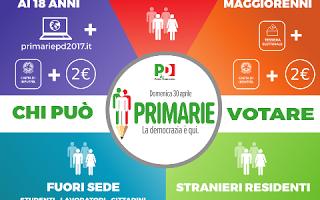 Politica: primarie  democrazia  pd  m5s