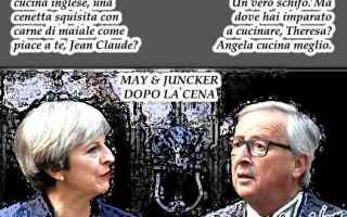 Satira: brexit  jean claude juncker  theresa may