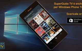 guida tv windows phone windows 10
