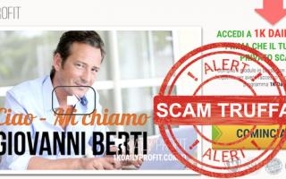 Borsa e Finanza: 1k daily profit truffa  scam  metodo