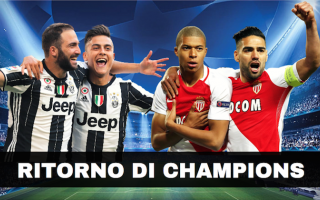 champions  juventus  monaco  streaming