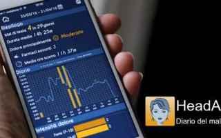 Salute: android iphone testa cefalea emicrania