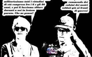 Satira: militarizzazione  ministra pinotti  pinotti  militari