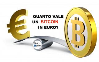 quanto vale 1 bitcoin in euro  bitcoin