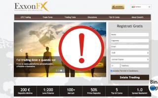 Borsa e Finanza: exxonfx truffa  broker forex