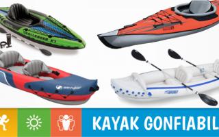 Kayak gonfiabili sono un ottimo modo per introdurre i più giovani a questo sport e al contatto con