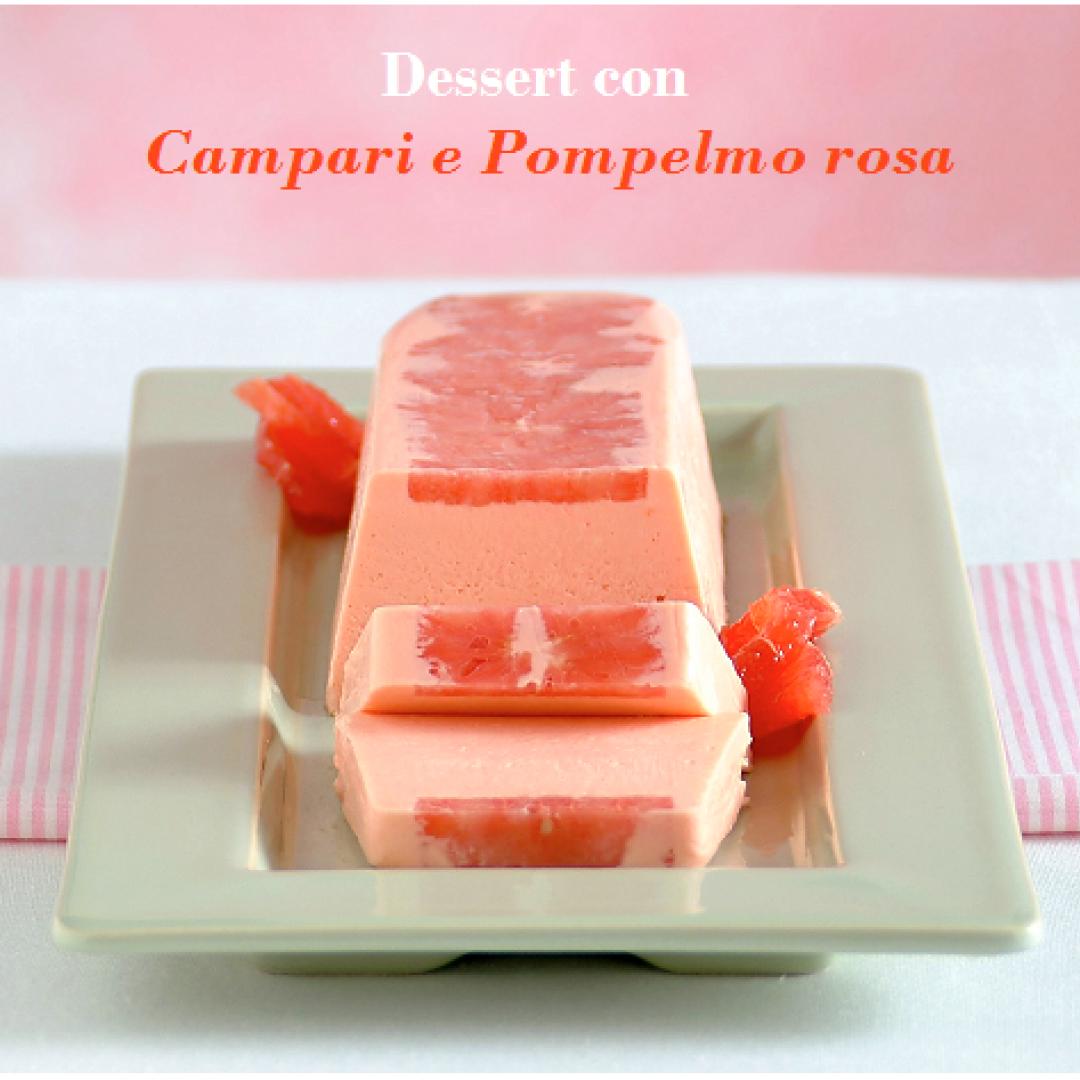 dessert  semifreddo  campari  pompelmo