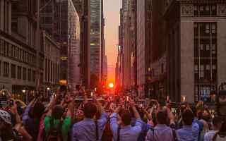 Immagini virali: manhattanhenge  new york  tramonto  foto