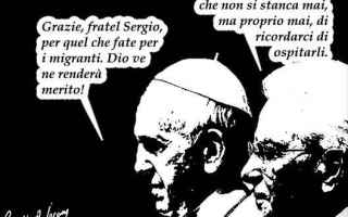 Satira: papa francesco  mattarella