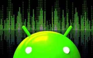 Audio: equalizzatore  android  audio  suono