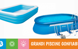 Ecco le migliori grandi piscine gonfiabili in circolazione ad un prezzo accessibile. Abbiamo pensato