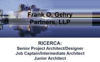 architetti  design  frank o gehry