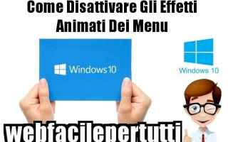 windows 10  disattivare.menu